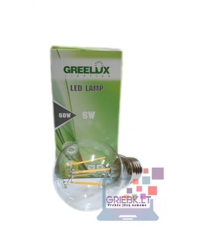 LED lemputė Filament A60 E27 220V 6W Greelux