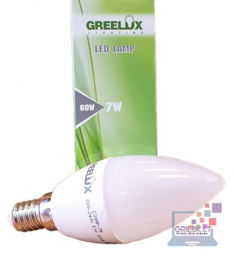 LED lemputė C37 7W E14 Greelux