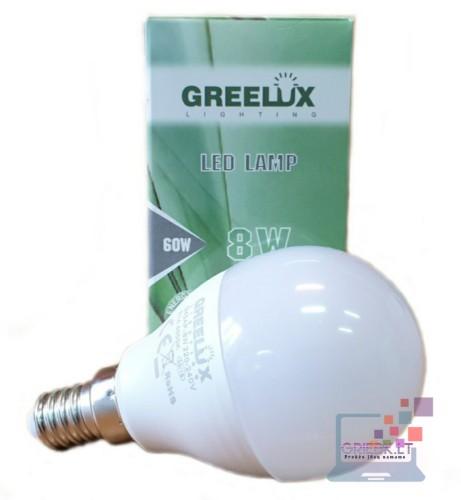 LED lemputė P45 8W E14 Greelux