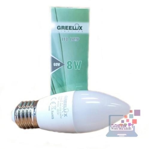 LED lemputė C37 8W E27 Greelux