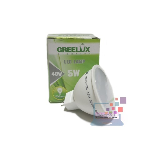 LED lemputė MR16 12V 5W Greelux