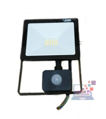 LED prožektorius su davikliu 50W Greelux
